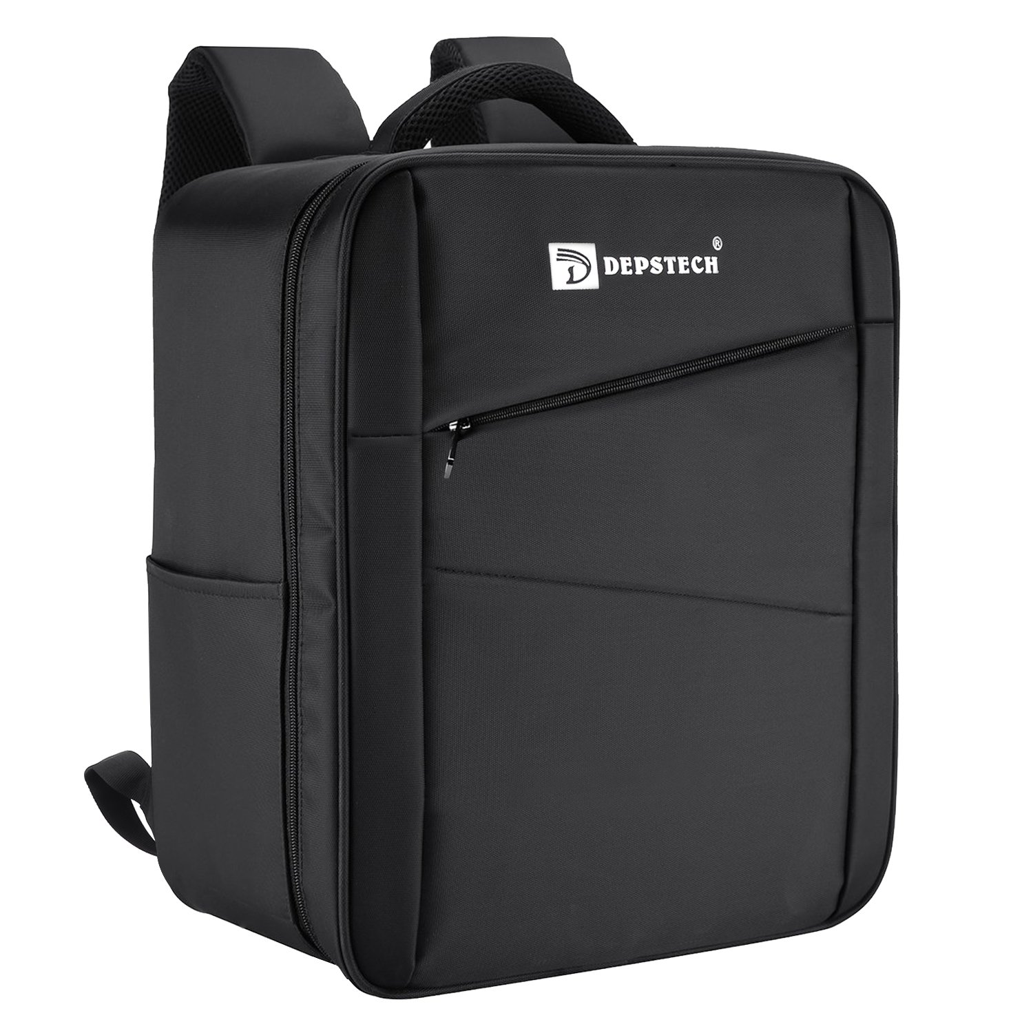 Depstech Upgraded Waterproof Carrying Bag Traveling Backpack Case for DJI Phantom 3 Professional, Advanced, 4K Quadcopter Drone and Accessories- Black