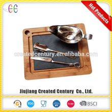 OEM wood serving tray/wooden steak board/slate cutting board