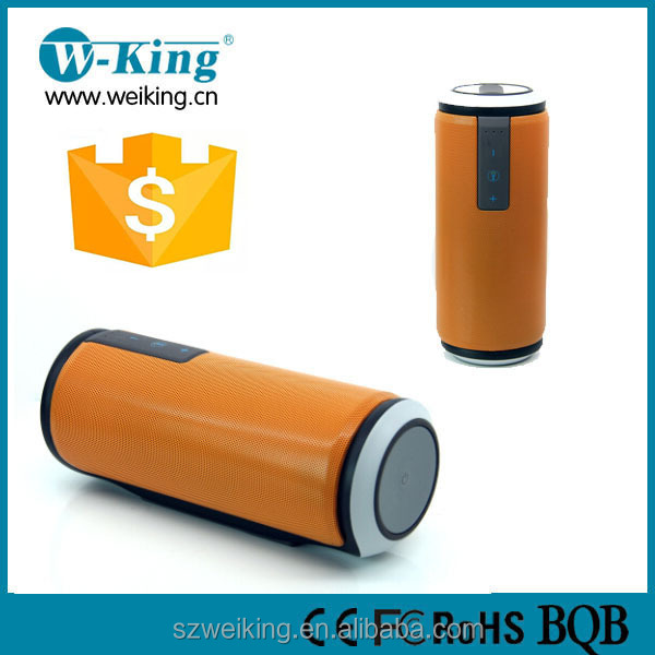 WEIKING IPX4 Waterproof Portable Bluetooth Speaker Wireless Outdoor/Shower Speaker orange