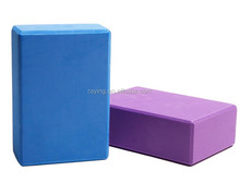 "Wholesale Raying High- density EVA yoga brick double color soft foam yoga block size 4""x6""x9"""