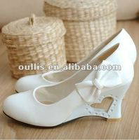 ladies shoes 2013 white wedding shoes wedges shoes WZX-1