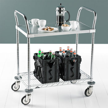 Diy 2 Tiers Stainless Steel Mobile Food Serving Trolley Cart With Wheels Buy Serving Trolleystainless Steel Food Trolleystainless Steel Cart With