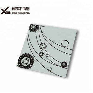 Decorative construction materials 304 price stainless steel sheet etched coating color wall panel