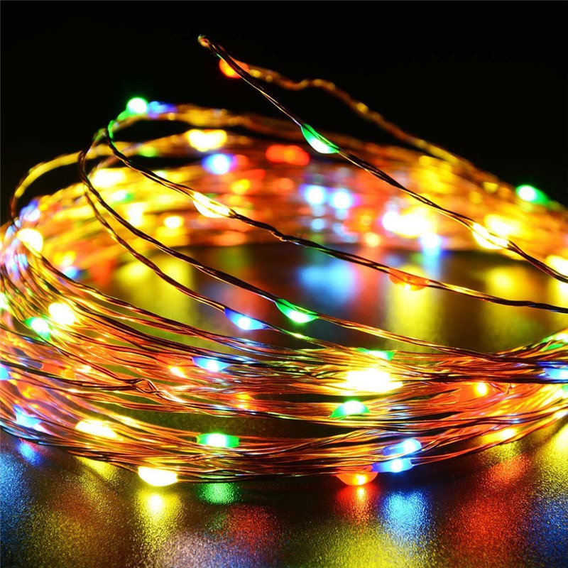 12m 120Leds Fairy Christmas Garland Lights Outdoor Wedding Decorations Mariage Holiday Lighting Lamp 3V output led string light