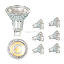 Traditional halogen spotlight replacement 240v 5w warm white cob gu10 led spotlight glass lamp body
