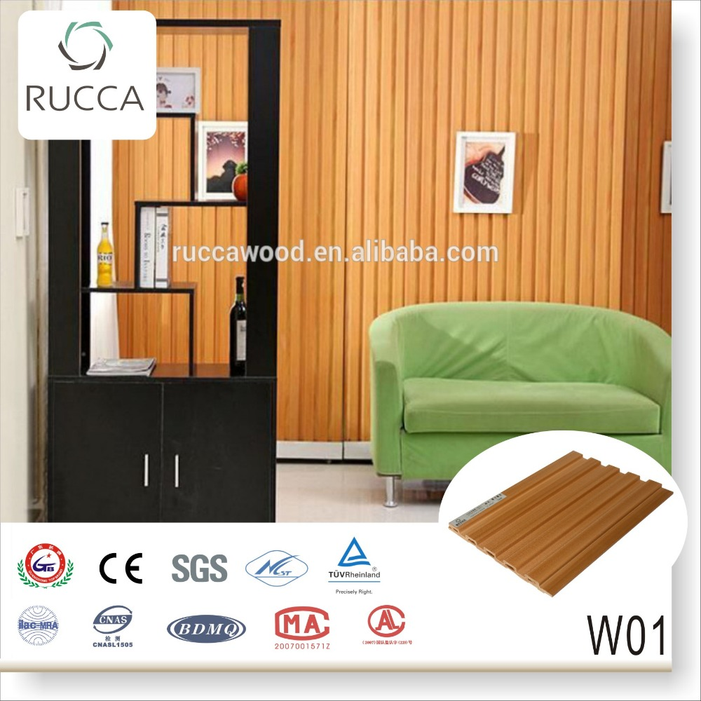 2016 WPC Wood pvc prefabricated wall panel 159*10mm interior decoration Guangdong China building materials