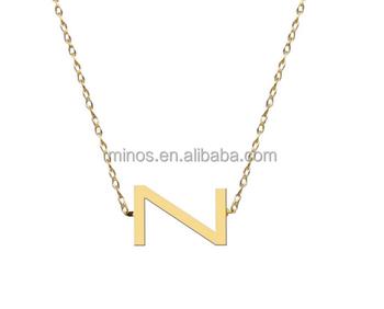 sideways block initial pendant necklacegold letter necklace pendants