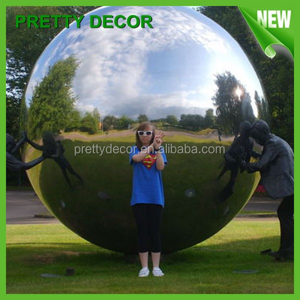 Large Stainless Steel Sculpture Metal Sphere Style View Garden