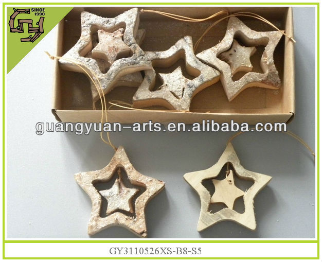 2014 new wooden best selling antique Christmas Ornaments