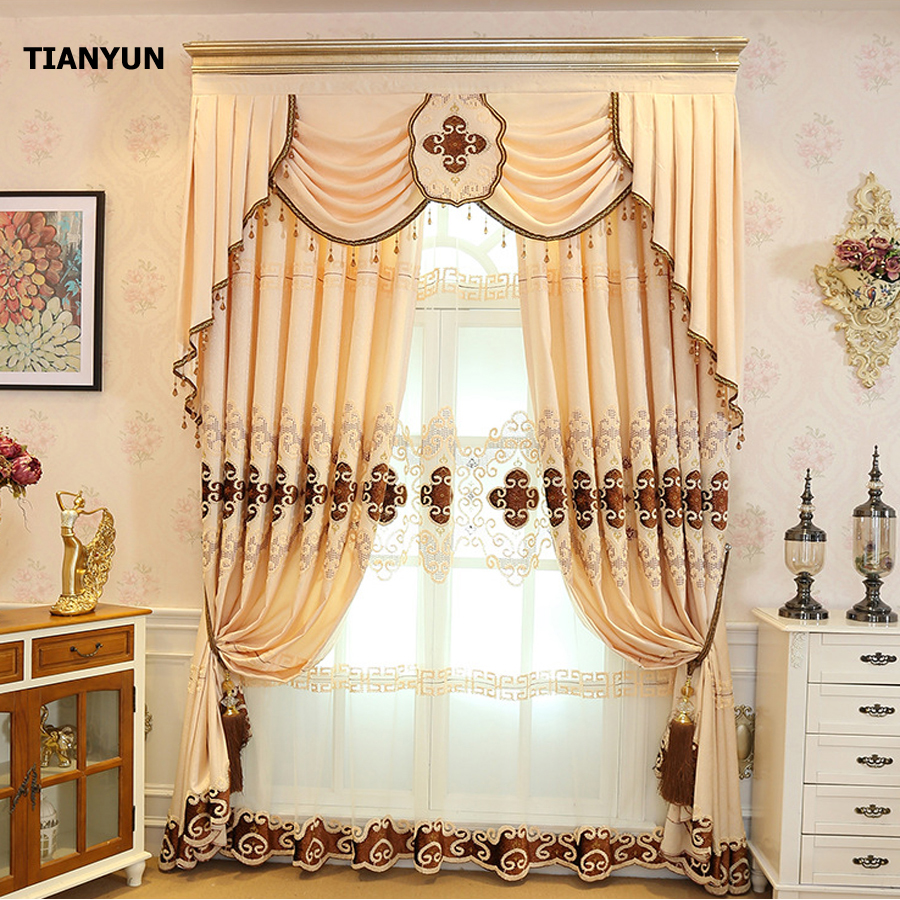 2017 Autumn Beautiful Living Room Turkish Curtains
