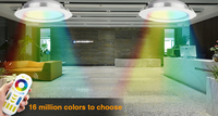 color changing LED lighting fixtures recessed down light fixed head aluminum housing landscape lighting 12W