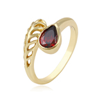 Gift Jewelry Ring Design 12615-xuping Fashion 14k Gold Plated Jewelry Class Diamond Ruby Ring
