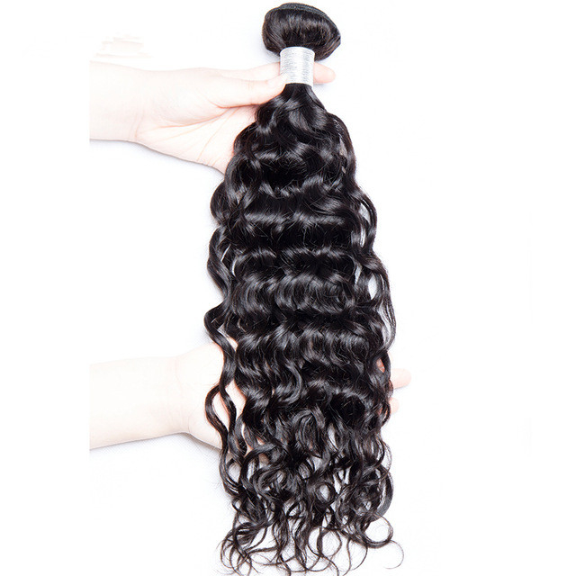 Wholesale Nice quality water wave indian remy human hair weave bundle extensions фото