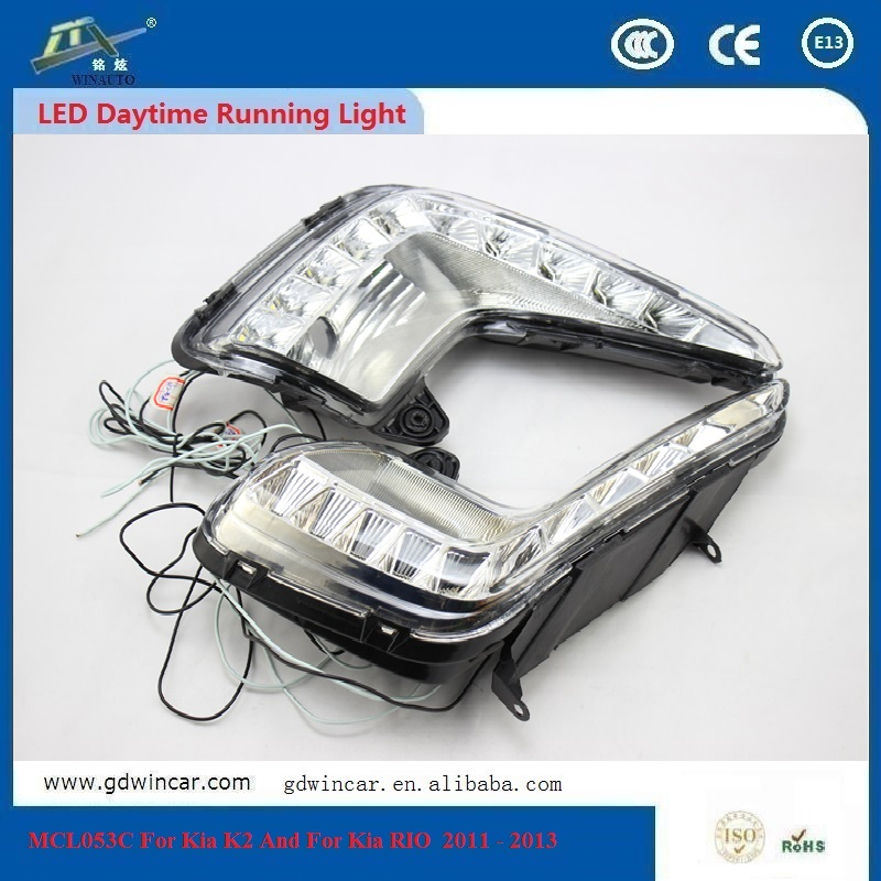 Atv Daytime Running Lights Curved Led Light Bar For Kia k2 And For Kia Rio 2011 - 2013