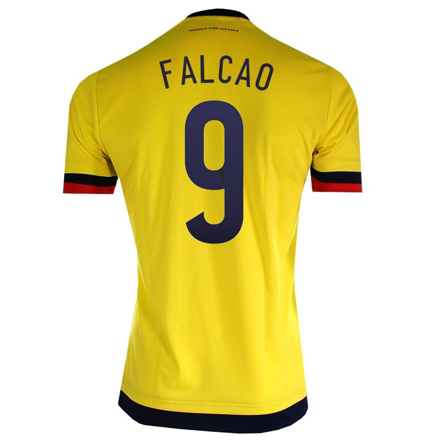 a79239e474f Get Quotations · Falcao  9 Colombia Home Soccer Jersey 2015
