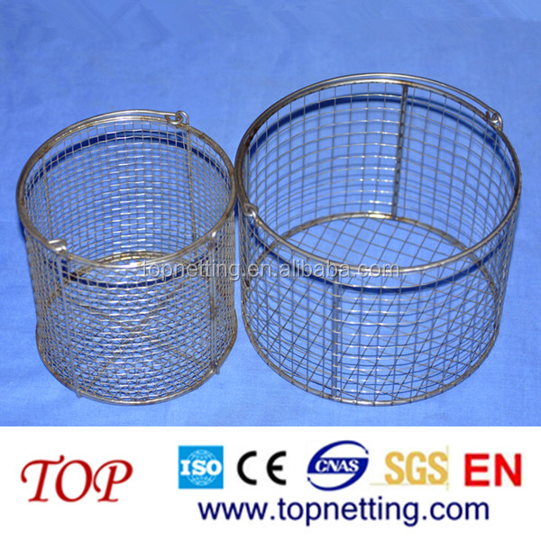 Stainless Steel Wire Mesh Round Basket - Buy Stainless Steel Wire ...