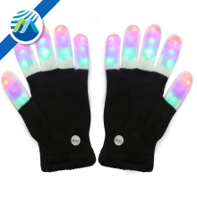 Wholesale Rave Light Flashing Finger Lighting Glow Mittens LED Glow Gloves for halloween