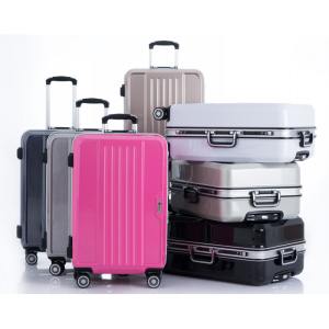 suitcases hard side travel trolley luggage bag with own logo
