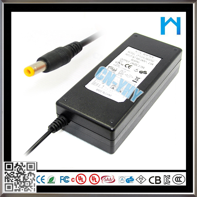 Nosotros 3.75a switching power supply 24 v 50-60 hz ac dc adaptador de 90 w power supply para disco duro externo
