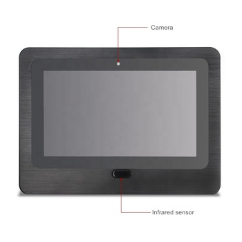 Body Face recognation 12 inch interactive touch screen all in one PC Android 5.1/7.1 RK3288/RK3399