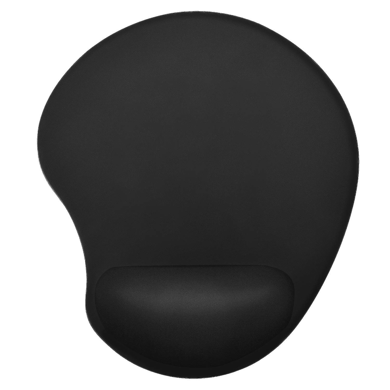Ktrio Mouse Pad with Wrist Rest, Mousepad with Wrist Support Wrist Pad Ergonomic Cushion Support Mouse Mat Non-Slip Rubber Base Smooth Surface for Home Office Travel 9x7.5 inches Black