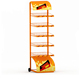 Supermarket Bread Snacks Shelves Display Rack