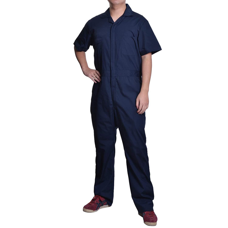d794730f8cf Get Quotations · VFDB Men Big-Tall Coveralls Short Sleeve Overalls Workwear  Overalls Work Jumpsuits