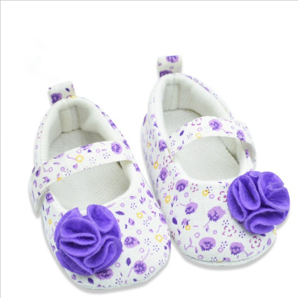 Fall rose floral comfortable soft newborn babies wear toddler single shoes