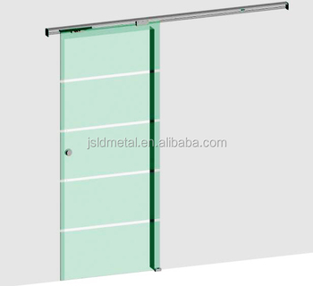 Soft close top hung single aluminum track sliding door system for 1/2\u0026quot; ...  sc 1 st  Alibaba & Soft Close Top Hung Single Aluminum Track Sliding Door System For 1 ...