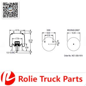 Auto Parts Air Bags Suspension Hendrickson Trailer Firestone W01-358- on