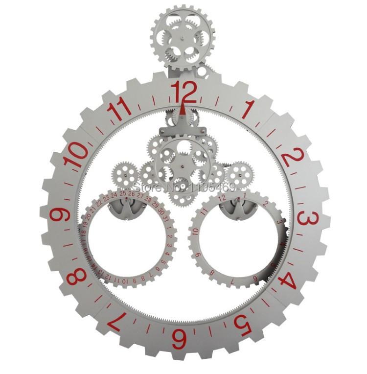 dhl livraison grande taille triangle engrenage horloge. Black Bedroom Furniture Sets. Home Design Ideas