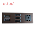 High quality electrical panel light wall switch and socket for hotel