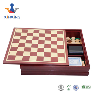 wood desk top Board Game Set 12 in 1 Tabletop Wood Accented Game Center With Storage Drawer