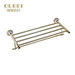 Hardware de baño accesorios de baño, doble de cobre dorado largo baño continental toallero