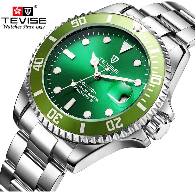 fashion steel mechanical tevise watch men automatic watch