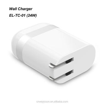ul certified usb wall charger 2.4A  24W