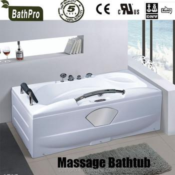 Indoor One Person Whirlpool Corner Tub Corner Installation Type Bathtub