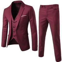 Morili High quality 2020 men's made to measure suit man 3 pieces suit Slim business groom wedding casual MMSB34