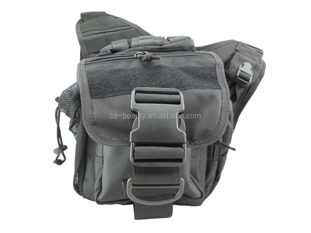 8color Molle tactical Messenger Bag pocket bag climbing riding sport Pouch backpack Grey color