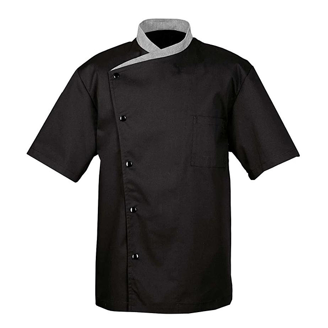 Wholesale Kitchens Cooking Uniform Cheap Promotional High-grade Restaurant Chef Coats Short Sleeve Unisex Cook Workwear