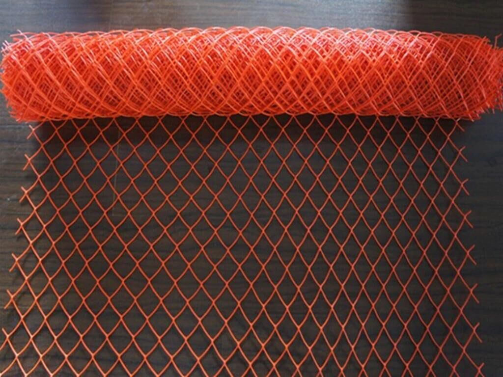 Tall 1.2 meter high quality green / orange snow fence mesh on sales