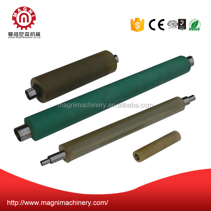 Custom epdm/nbr/sbr/pu rubber roller, precision rubber coated roller