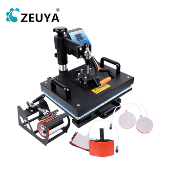 Desktop Manual Heat Press Flat Surface Heat Transfer Press 5IN1 Pyrograph Machine