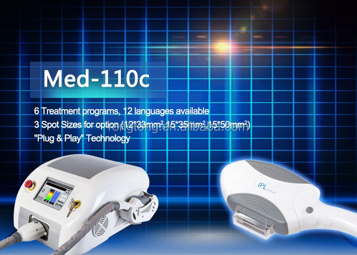 Med-110c 2015 hot sell home use rf skin rejuvenation beauty device mini ipl machine for skin pigmentation