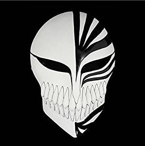 Caka Venetian Mardi Gras Masquerade Bleach Ichigo Kurosaki Full Hollow Halloween Cosplay Movie Theme Mask Fancy Dress CosPlay Bleach Kurosaki Ichigo Mask