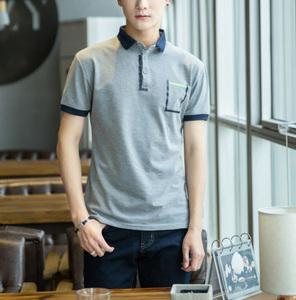 OEM service uniform polo shirt free design teenager sham pocket polo tshirt