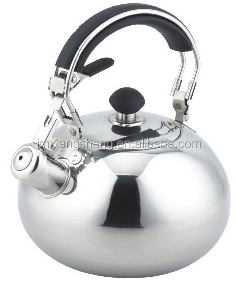 2.5L 304 stainless steel master class palm restaurant tea kettle non electric