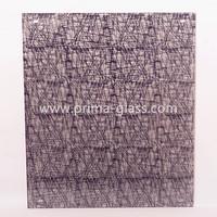 Prima architectural fabric laminated glass panel