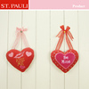 valentine's day gifts red plush heart shape ornaments for cheap promotion