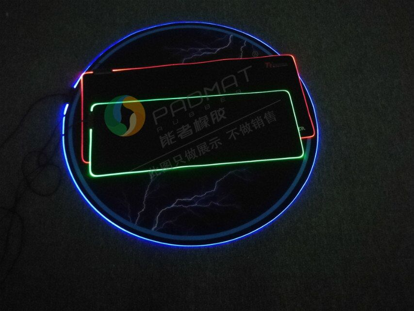 Soft Rubber LED Gaming Mouse Pad Printed  RGB Mousepad Printed Mouse Pad for Gamer